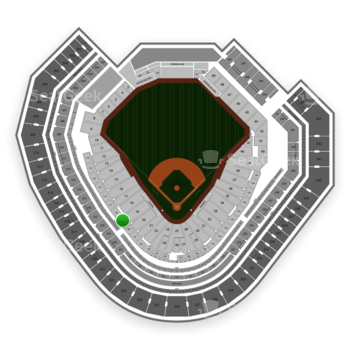 Texas Rangers at Globe Life Park Section 119 View
