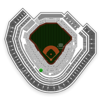 Texas Rangers at Globe Life Park Section 122 View