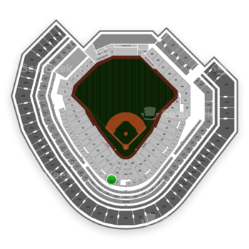 Texas Rangers at Globe Life Park Section 124 View