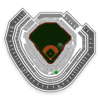 Texas Rangers at Globe Life Park Section 129 View