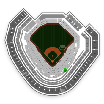Texas Rangers at Globe Life Park Section 132 View