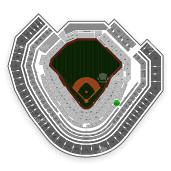 Texas Rangers at Globe Life Park Section 135 View
