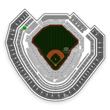 Texas Rangers at Globe Life Park Section 205 View