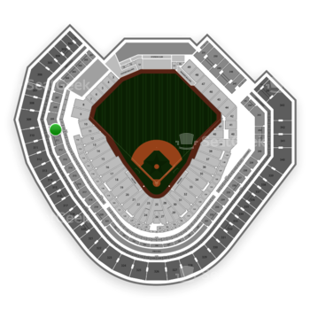 Texas Rangers at Globe Life Park Section 210 View