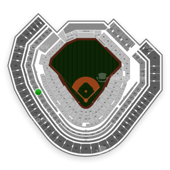 Texas Rangers at Globe Life Park Section 214 View