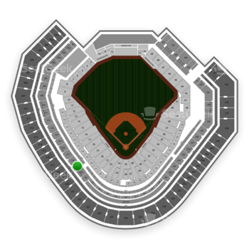 Texas Rangers at Globe Life Park Section 219 View