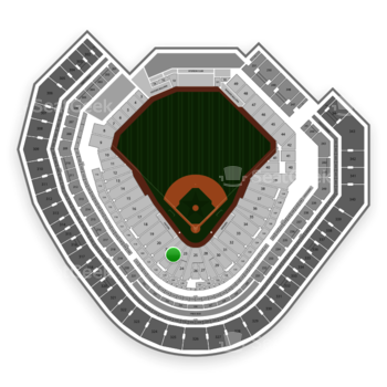 Texas Rangers at Globe Life Park Section 22 View