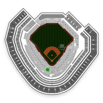 Texas Rangers at Globe Life Park Section 23 View