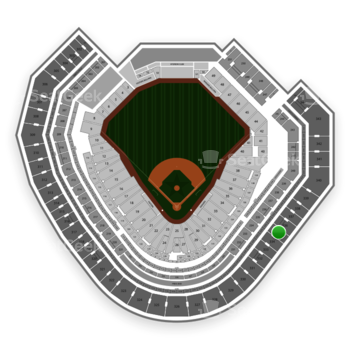 Texas Rangers at Globe Life Park Section 335 View