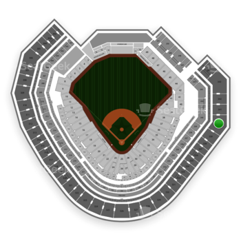 Texas Rangers at Globe Life Park Section 340 View