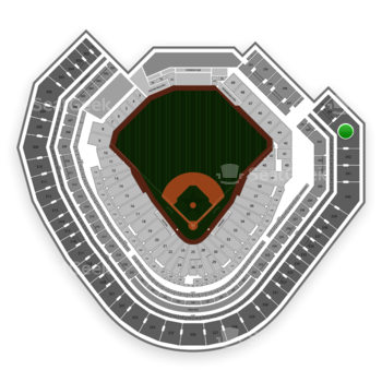 Texas Rangers at Globe Life Park Section 343 View