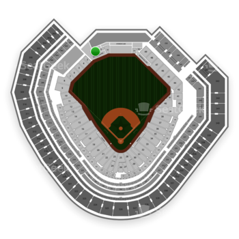 Texas Rangers at Globe Life Park Section 54 View