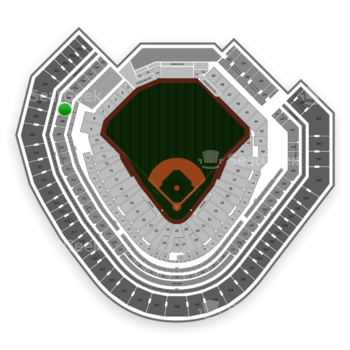 Texas Rangers at Globe Life Park Section 207 View