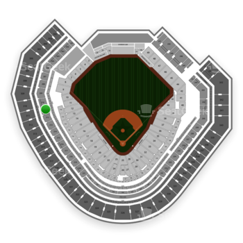 Texas Rangers at Globe Life Park Section 211 View