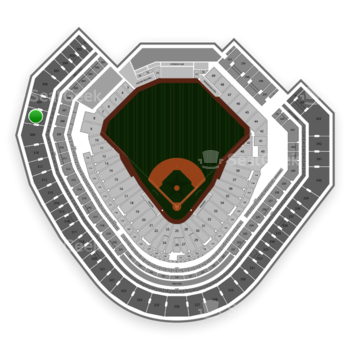 Texas Rangers at Globe Life Park Section 308 View
