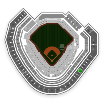 Texas Rangers at Globe Life Park Section 334 View