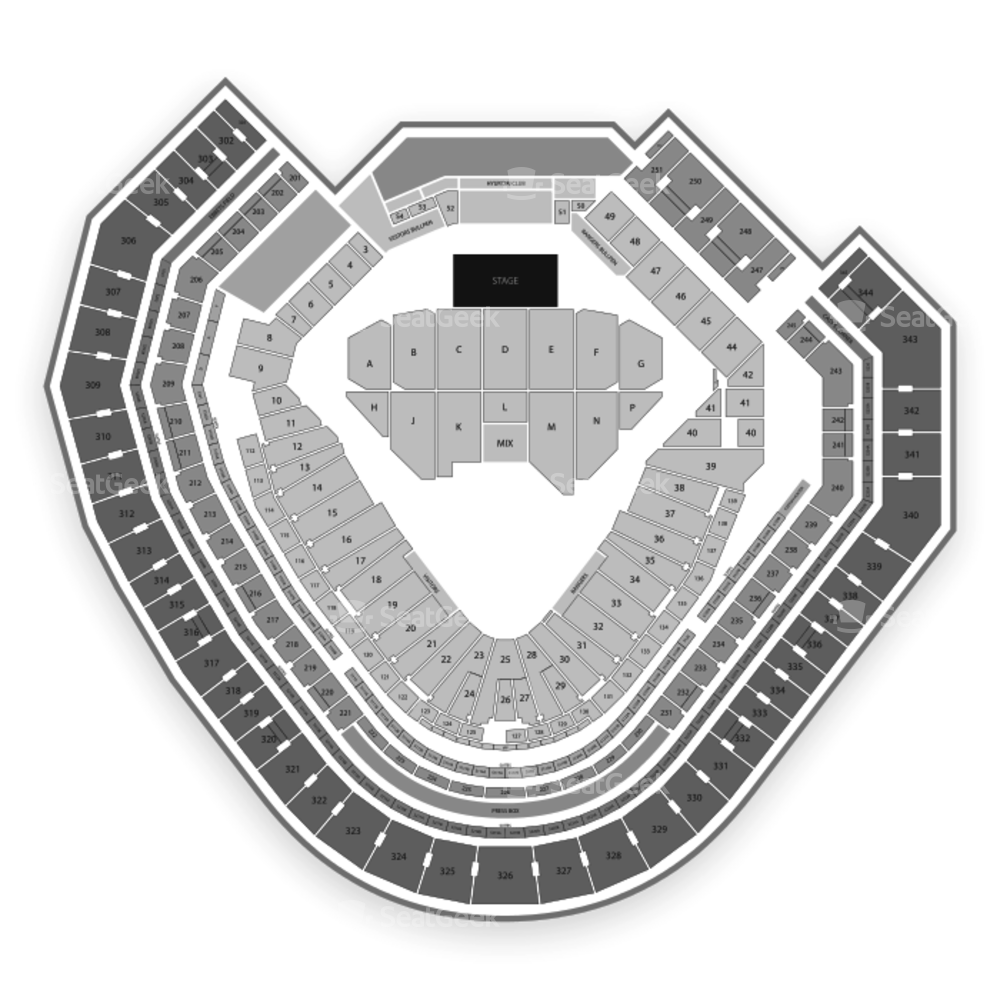 Globe Life Park Seating Chart Concert