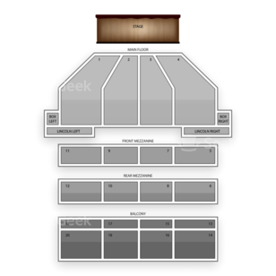 Music Hall Center Seating Chart Dance Performance Tour