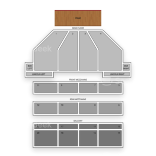 Music Hall Center Seating Chart Comedy