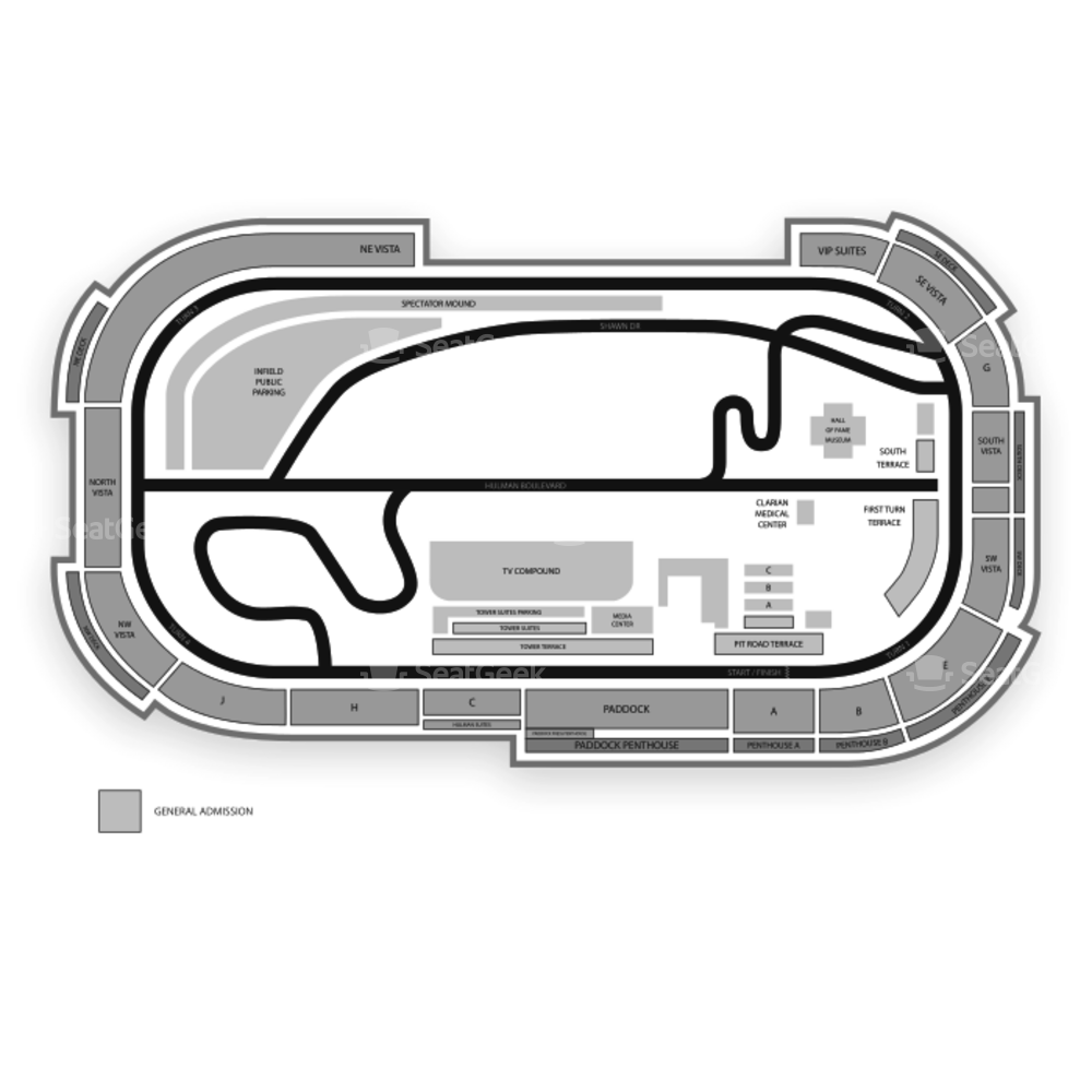 Indianapolis Motor Speedway Seating Chart Indycar