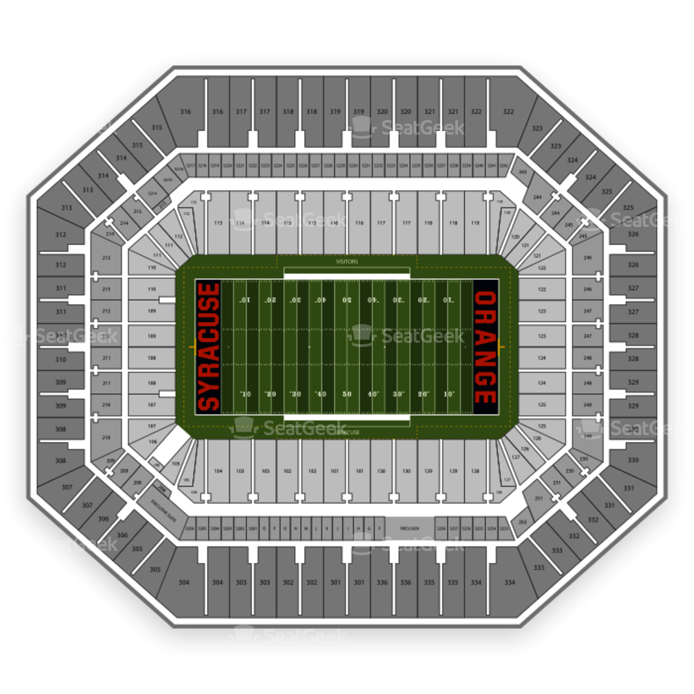 Carrier Dome Seating Chart NCAA Football