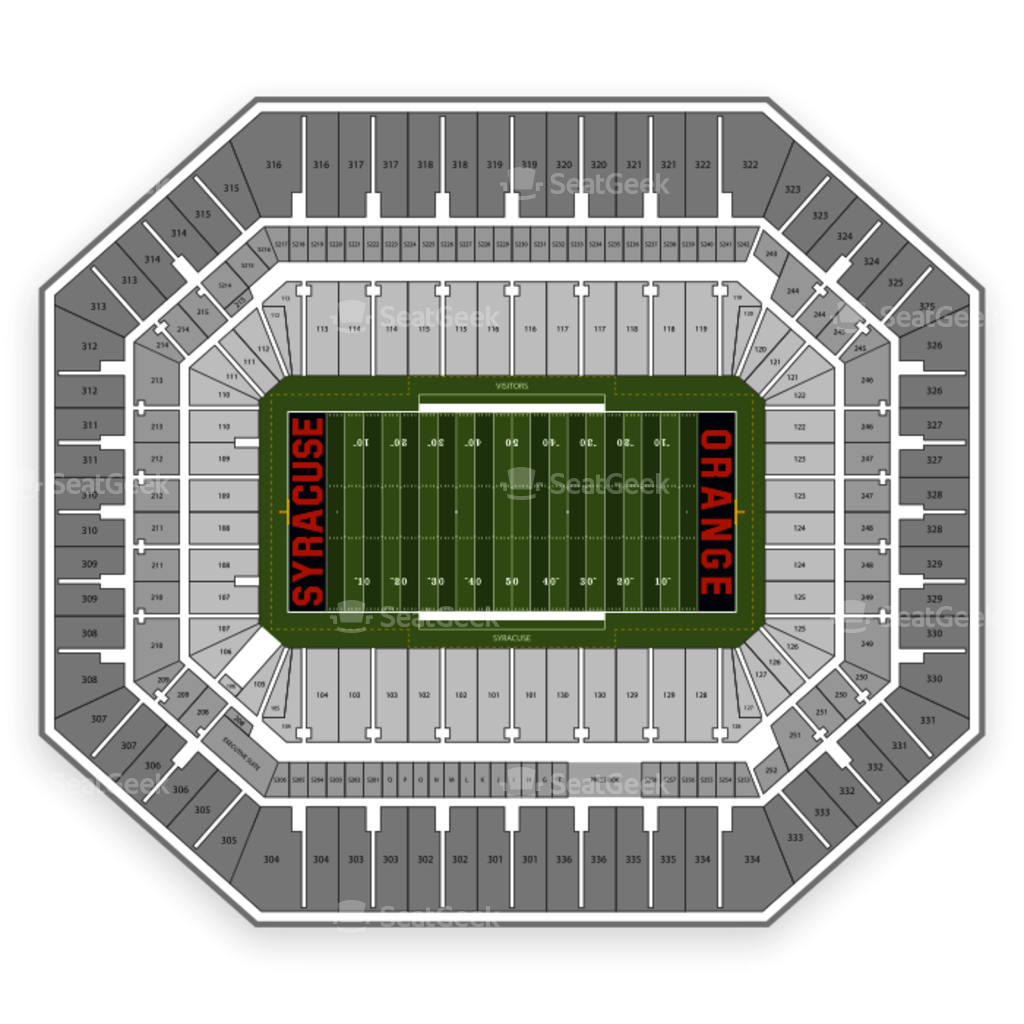 Carrier dome seating chart concert interactive map seatgeek