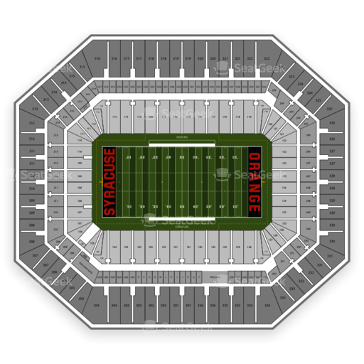 Carrier Dome Seating Chart Map Seatgeek