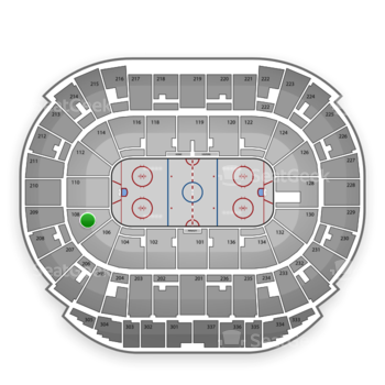Edmonton Oilers at Rexall Place Section 108 View