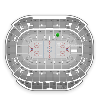 Edmonton Oilers at Rexall Place Section 120 View