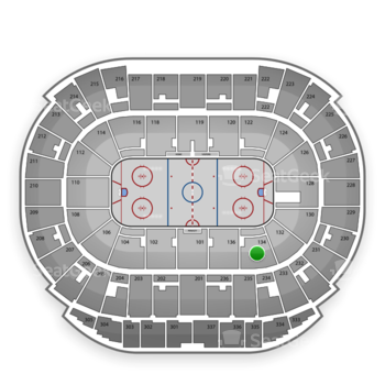 Edmonton Oilers at Rexall Place Section 134 View