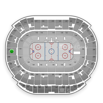 Edmonton Oilers at Rexall Place Section 210 View