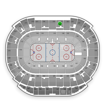 Edmonton Oilers at Rexall Place Section 220 View