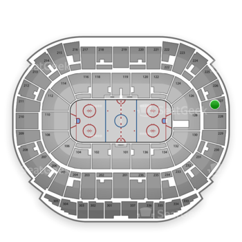 Edmonton Oilers at Rexall Place Section 227 View