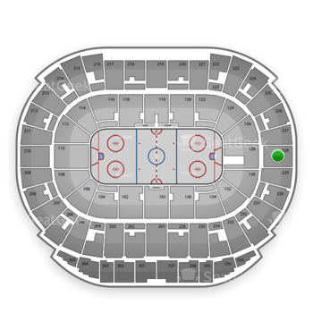 Edmonton Oilers at Rexall Place Section 228 View
