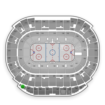Edmonton Oilers at Rexall Place Section 305 View