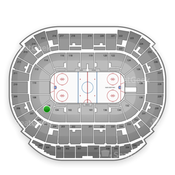 Edmonton Oilers at Northlands Coliseum Section 106 View