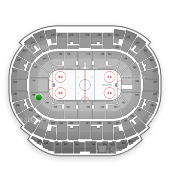 Edmonton Oilers at Northlands Coliseum Section 108 View