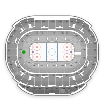 Edmonton Oilers at Northlands Coliseum Section 110 View
