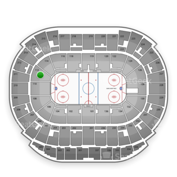 Edmonton Oilers at Northlands Coliseum Section 112 View