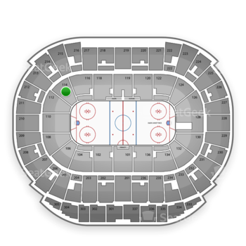 Edmonton Oilers at Northlands Coliseum Section 114 View