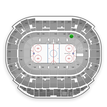 Edmonton Oilers at Northlands Coliseum Section 122 View