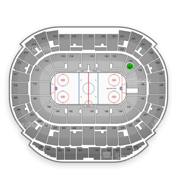 Edmonton Oilers at Northlands Coliseum Section 124 View