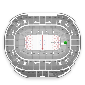 Edmonton Oilers at Northlands Coliseum Section 128 View
