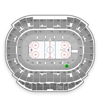 Edmonton Oilers at Northlands Coliseum Section 134 View