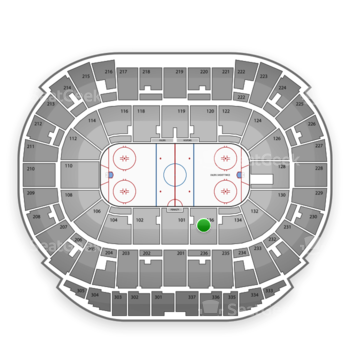 Edmonton Oilers at Northlands Coliseum Section 136 View