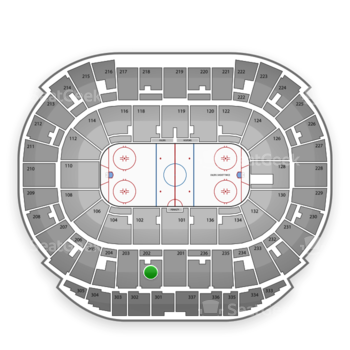 Edmonton Oilers at Northlands Coliseum Section 202 View