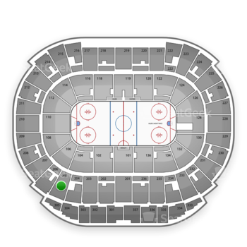 Edmonton Oilers at Northlands Coliseum Section 205 View