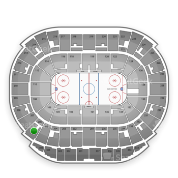 Edmonton Oilers at Northlands Coliseum Section 206 View