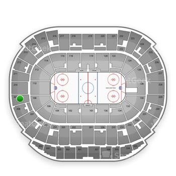 Edmonton Oilers at Northlands Coliseum Section 209 View