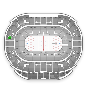 Edmonton Oilers at Northlands Coliseum Section 211 View